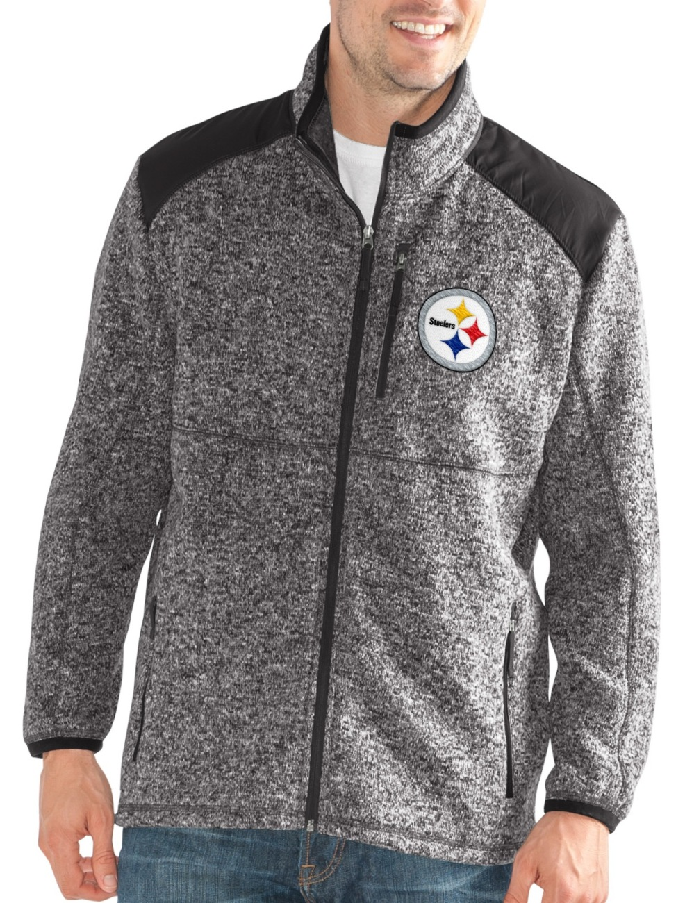 "Pittsburgh Steelers NFL G-III ""Back Country"" Full Zip Men's Sweater Jacket by G-III Sports"