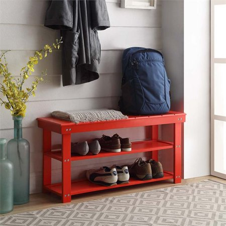 Miraculous Convenience Concepts Oxford Utility Mudroom Entryway Bench In Red Walmart Canada Machost Co Dining Chair Design Ideas Machostcouk