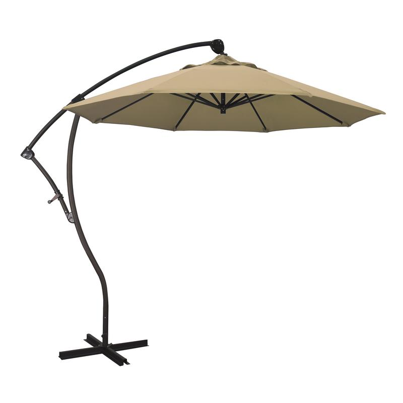 California Umbrella Bayside Series Patio Cantilever Umbrella in Olefin with Bronze... by California Umbrella
