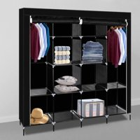 UBesGoo Portable Wardrobe Bedroom Clothes Closet ,with Non-Woven Fabric