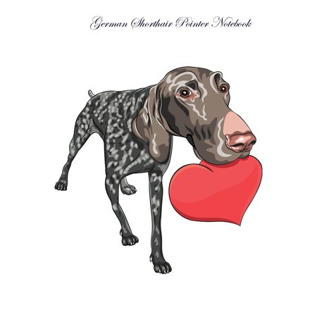German Shorthair Pointer Notebook Record Journal, Diary, Special Memories, to Do List, Academic Notepad, and Much More - German Shorthair Pointer Fleece