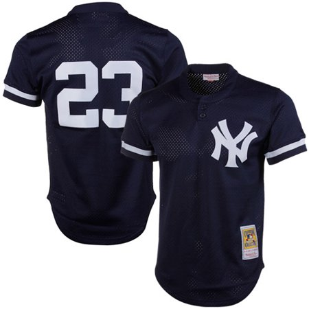 Don Mattingly New York Yankees Mitchell & Ness 1995 Authentic Cooperstown Collection Mesh Batting Practice Jersey - Navy ()
