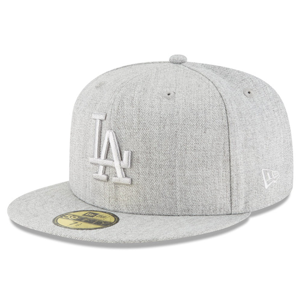 Los Angeles Dodgers New Era Twisted Frame 59FIFTY Fitted Hat - Gray