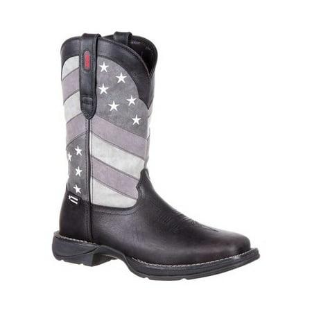 "Men's Durango Boot DDB0125 Rebel 12"" Faded Flag Western Boot"