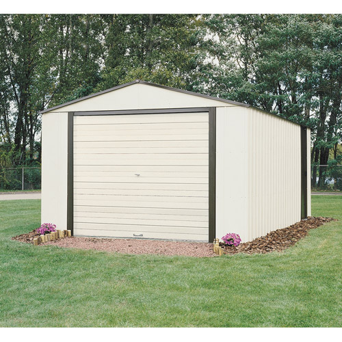 Murryhill 12 x 17 ft. Steel Storage Shed Coffee/Almond