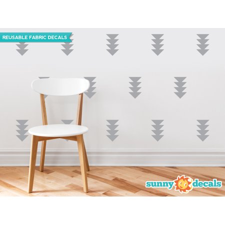 - Four Triangle Arrow Fabric Wall Decals - Set of 32 Four-Triangle-Arrows - 19 Color Options-Grey/