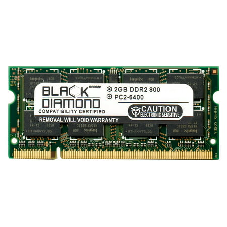 2GB Black Diamond Memory Module for HP Pavilion Notebooks Notebook dv6-2066dx DDR2 SO-DIMM 200pin PC2-6400 800MHz Upgrade