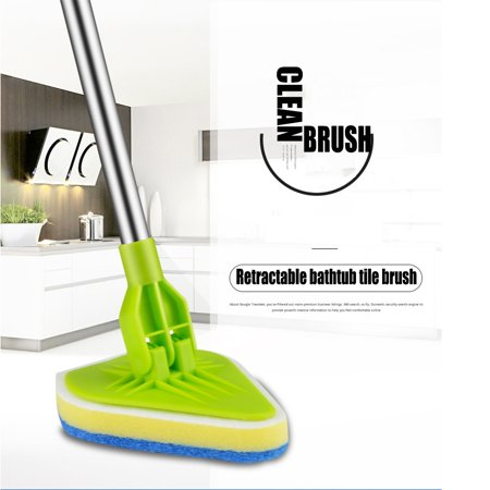 Shower Tub Tile Scrubber Car Van Bathtub Cleaner with Extendable Handle Kitchen Floor Window