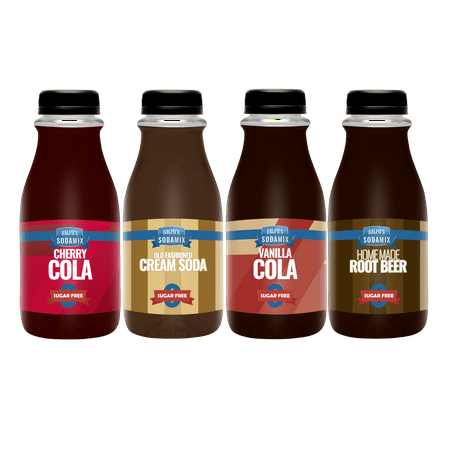 - Ralph's SUGAR FREE Sparkling Water Sodamix Flavors | Cherry Cola | Root Beer | Vanilla Cola | Cream Soda | Four 12oz Bottles