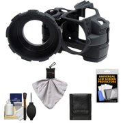 MADE Rubberized Camera Armor (Black) for Nikon D40, D40x & D60 Digital SLR Camera + Spudz Cleaning Cloth + Accessory Kit