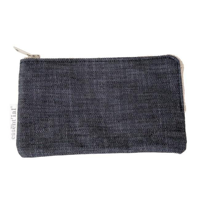 c6b2914d1d Essential ES002024 Denim Money Zip Wallet, Medium