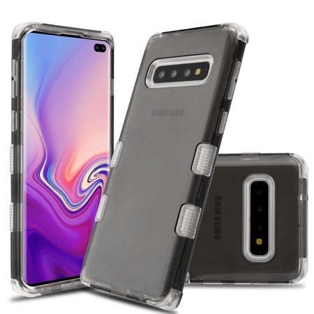 Military Grade Certified TUFF Lucid Transparent Hybrid Armor Case for Samsung Galaxy S10 Plus - Smoke