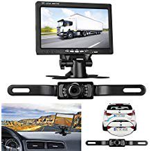 leekooluu backup camera and 7 tft monitor kit rear view. Black Bedroom Furniture Sets. Home Design Ideas