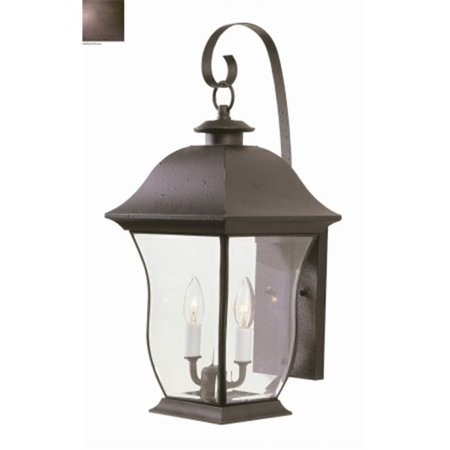 Trans Global Lighting 4971 Wb Classic 2 Light Outdoor Coach Weathered Bronze