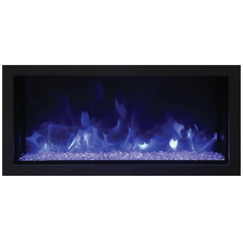 """Maklaine 35"""" Extra Slim Indoor / Outdoor Electric Fireplace"""