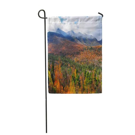 KDAGR Orange England The White Mountains of New Hampshire in Fall USA Red Landscape Garden Flag Decorative Flag House Banner 28x40 inch ()