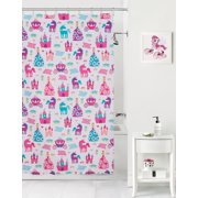 Mainstays Kids Pretty Princess Coordinating Fabric Shower Curtain