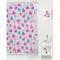 Mainstays Kids Pretty Princess Coordinating Fabric Shower Curtain