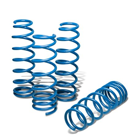 For 2009 to 2012 Nissan Fairlady 370Z Suspension Lowering Spring (Blue) - Z34 G37 V36 10