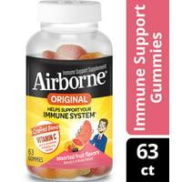 Airborne Immune Support Gummies with Vitamin C, Assorted Fruit - 63 Gummies