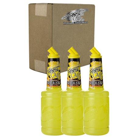 Finest Call Premium Sweet & Sour Drink Mix, 1 Liter Bottle (33.8 Fl Oz), Pack of 3