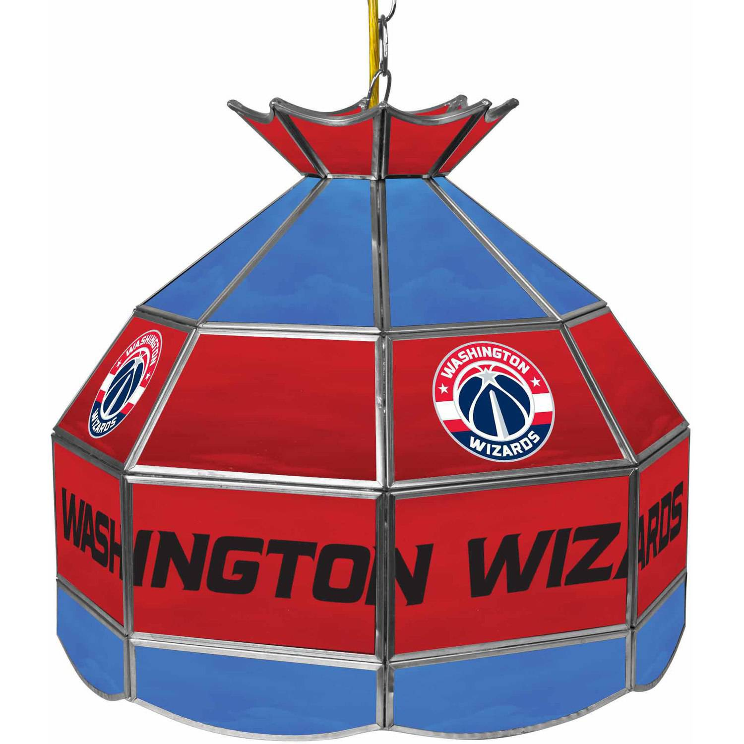 "Trademark Global Washington Wizards NBA 16"" Stained Glass Tiffany Lamp Light Fixture"