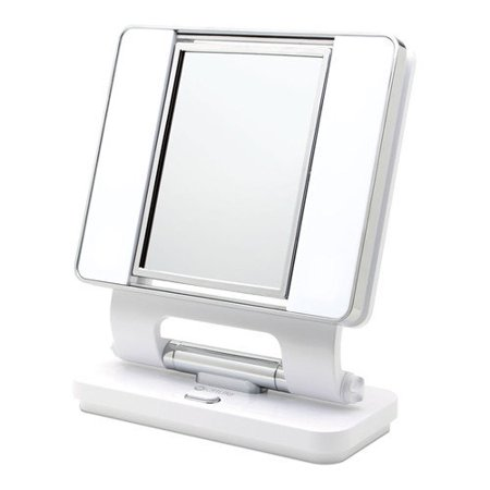 Ottlite Natural Daylight Makeup Mirror In White And Chrome