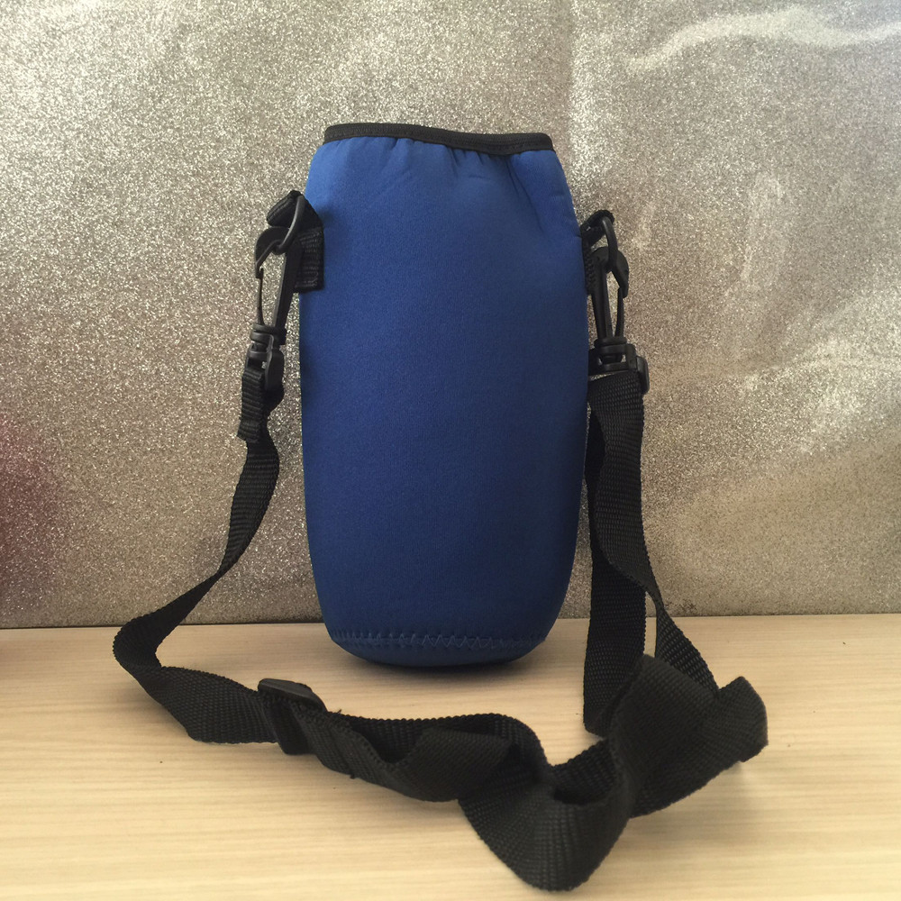 1000ml Water Bottle Carrier Insulated Cover Bag Pouch Holder Shoulder Straps New