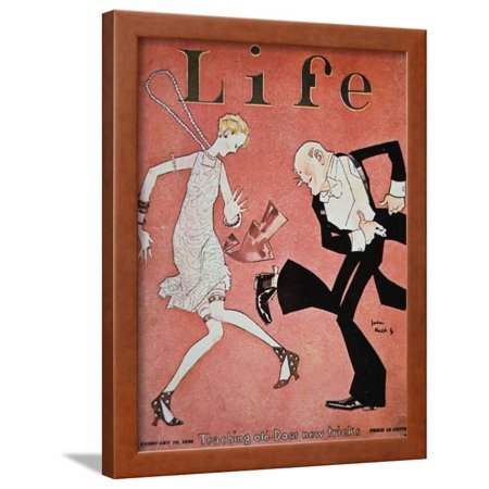 Dancing the Charleston During the 'Roaring Twenties', Cover of Life Magazine, 18th February, 1928 Vintage 1920s Framed Print Wall Art