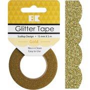Best Creation Designer Glitter Tape 15mmx5m-gold Scallop