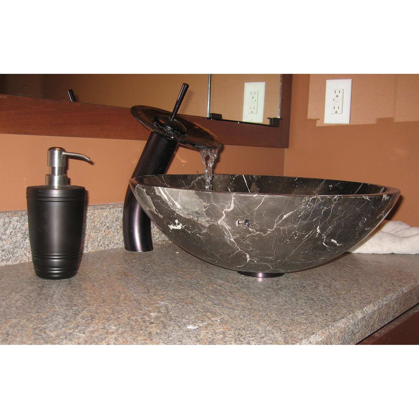 Novatto GF-001ORB-T Oil Rubbed Bronze Waterfall Vessel Sink Faucet