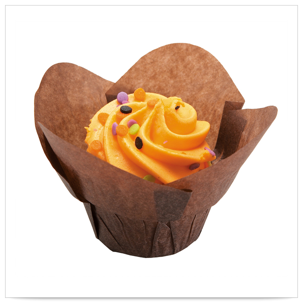 1x1/4 x 1x1/2 x 2x1/4 Small Chocolate Lotus Cupcake Wrapper/Case of 2500