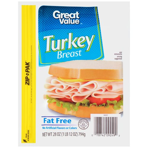 Great Value Turkey Breast, 28 oz