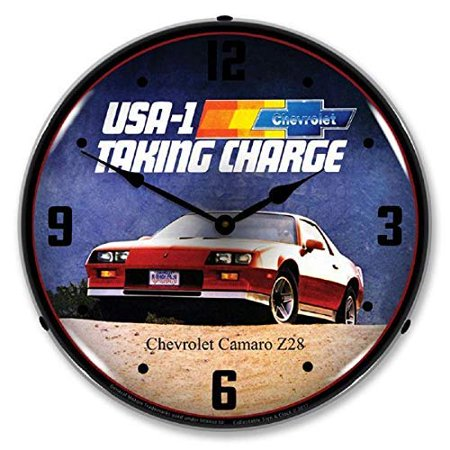 1983 Camaro Z28 Red USA-1 Taking Charge Chevrolet Muscle Car Wall Clock 14