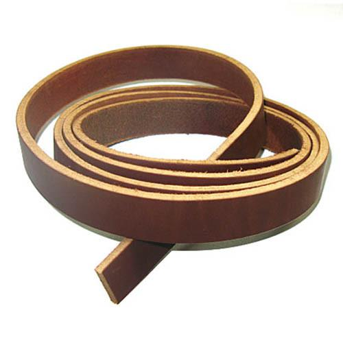 "1-1/2"" (38mm) 9/11oz Brown Genuine Solid Latigo Leather Strip 72"" long"