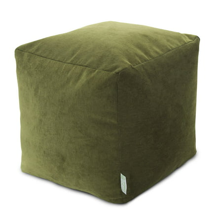 Majestic Home Goods Villa Indoor Ottoman Pouf Cube ()