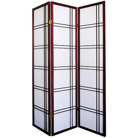 3 Panel Room Divider Cherry