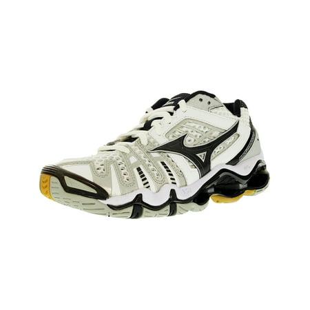 Mizuno Women's Wave Tornado 8 White/Black Low Top Leather Indoor Court Shoe -
