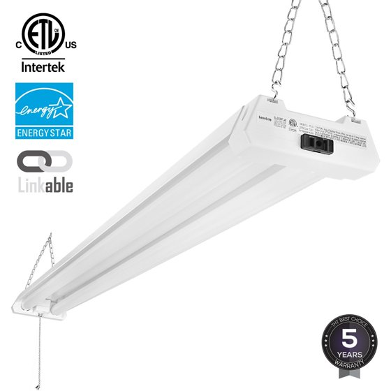 1-PACK 4ft 40W Linkable LED Utility Shop Light, 4100