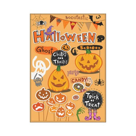 MYPOP Halloween Themed Party Garden Flag Outdoor Banner 28 x 40 - Outdoor Halloween Party Themes