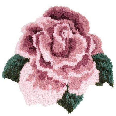 Mary Maxim Rose Shaped Latch Hook Rug Kit