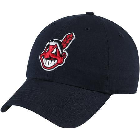 Cleveland Indians Fan Favorite Primary Logo Clean Up Adjustable Hat - Navy - OSFA