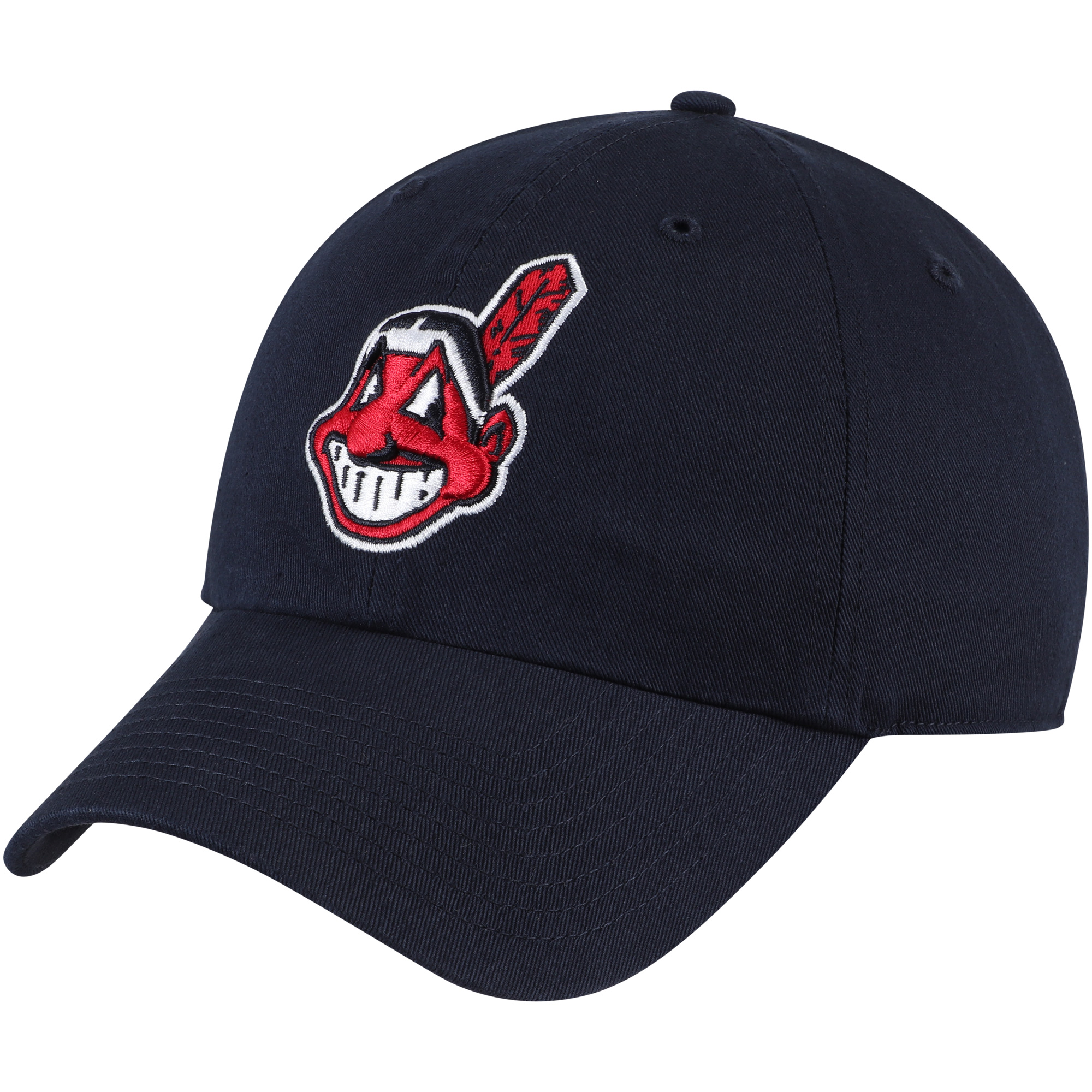 Cleveland Indians Fan Favorite Primary Logo Clean Up Adjustable Hat - Navy - OSFA