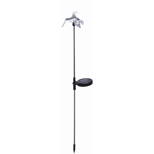 Moonrays 98006 Solar Powered Color-Changing LED Hummingbird Stake Light, Clear Acrylic