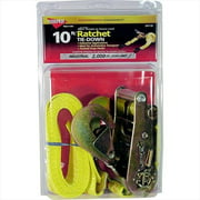 HAMPTON PROD 4110 10 Ft.  X 2 inch Ratchet Tie-Down With Twisted Snap Hooks