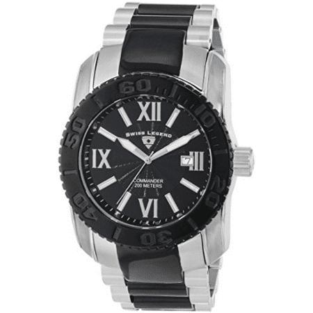Swiss Legend Men's Commander Black Ion-Plated Watch - SL-643-10059-SB-11