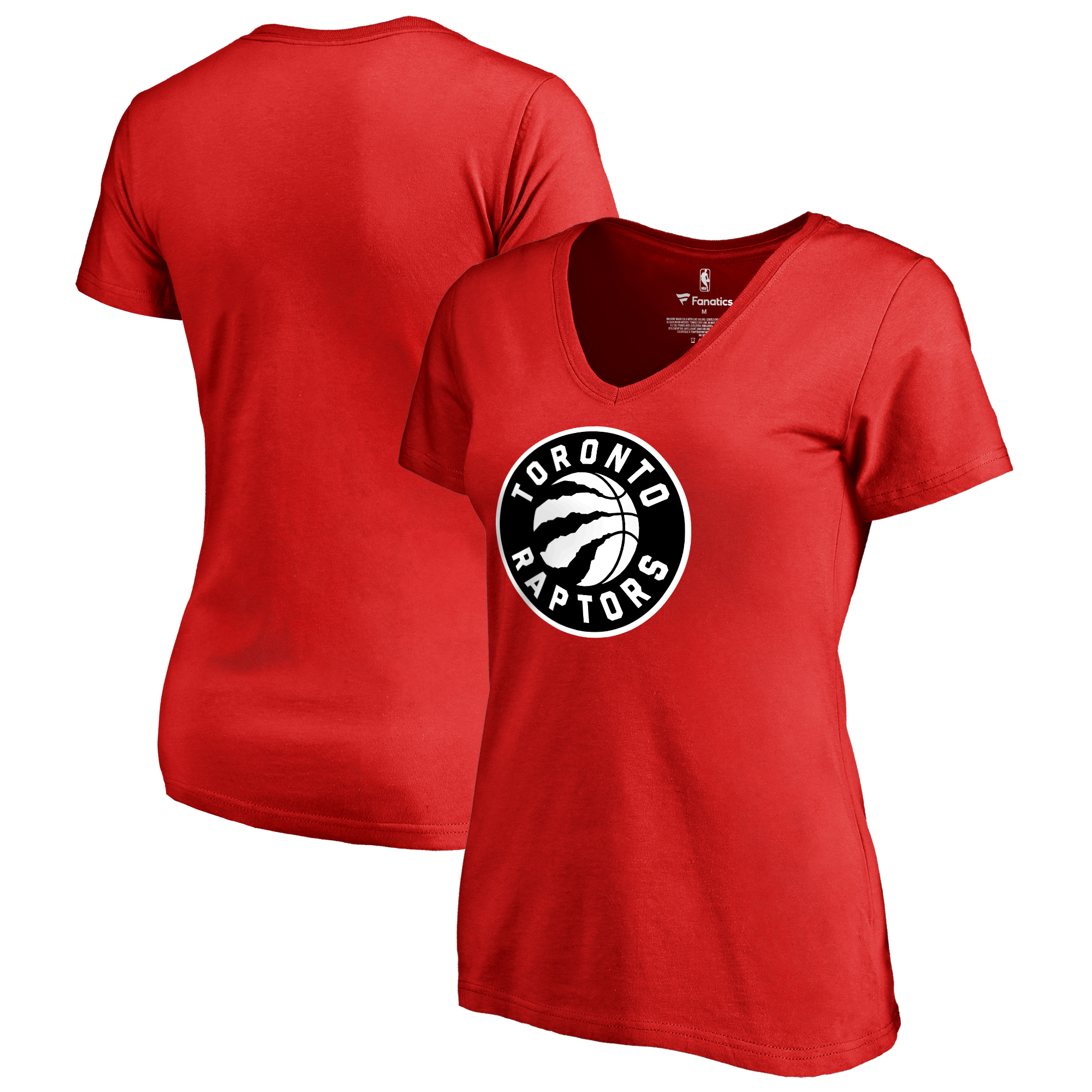 Toronto Raptors Fanatics Branded Women's Plus Size Primary Logo V-Neck T-Shirt - Red
