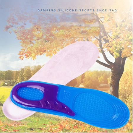 FLORATA Advanced Gel Orthotic Insoles for Sports, Extra Shock Absorb for Protecting Heel and Knee - Unisex Inserts Relieve Foot (Best Orthotics For Knee Pain)