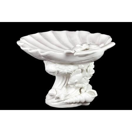 Beautiful & Mesmerizing Ceramic Seashell Platter In White