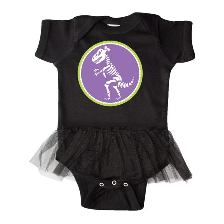 Funny Girl Dinosaur Skeleton Infant Tutu - Dorothy The Dinosaur Onesie